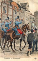 France -Hussards - Trompettes -  Illustrateut Maurice Toussaint - Uniformes