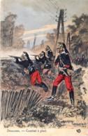 France -Dragons - Combat à Pied -  Illustrateut Maurice Toussaint - Uniformes