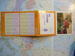 Calendrier Petit Format  Ch. Lefebre Agent Renault Amiens / Voiture 1977 - Petit Format : 1971-80