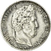Monnaie, France, Louis-Philippe, 1/4 Franc, 1838, Lille, TTB, Argent - France