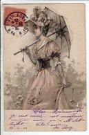 Cpa Illustrateur Fantaisie  Femme - 1905 - Illustrateurs & Photographes