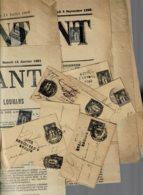 Lot1- 8 Entiers Postaux + 10 Grands Fragts Cote MAURY 240€/journal Timbres Sans Défaut - 1876-1898 Sage (Type II)