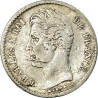Monnaie, France, Charles X, 1/4 Franc, 1830, Bayonne, TB, Argent, Gadoury:353 - France