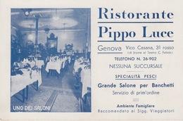 """GENOVA - """"RISTORANTE PIPPO LUCE"""" - SPECIALITA' PESCI - Genova (Genoa)"""