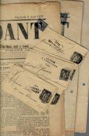 Lot1- 8 Entiers Postaux + 7 Grands Fragts Cote Mauty 240€/journal   1 Timbre Avec 1 Dent Courte Sinon Tous TB Défaut - 1876-1898 Sage (Type II)