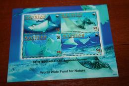 WWF  Mayreau  Rare Mini-block  Fish - W.W.F.