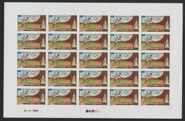 DJIBOUTI POSTE AERIENNE N° 242 FEUILLE COMPLETE DE 25 VALEURS NEUVES NON DENTELEES AVEC COIN DATE J. O. SEOUL . TB - Estate 1988: Seul