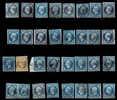 Lot9- Lot D'oblitération Petits Chiffres - 1853-1860 Napoléon III