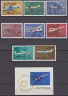 Russia, USSR 25/31.12.1969 Mi # 3700-07 Bl 59, Civil Aviation, MNH OG - Nuevos