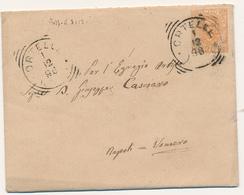1896 ORTELLE (LECCE) TONDO RIQUADRATO PER NAPOLI CON TESTO - 1878-00 Humbert I
