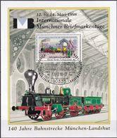 DEUTSCHLAND 1985 Mi-Nr. 1264 Auf Vignette 140 Jahre Bahnstrecke München Landshut - BRD