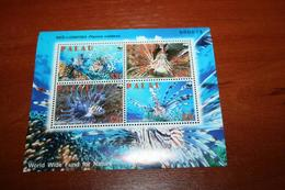 WWF  Palau  Rare Mini-block  Fish - Fishes