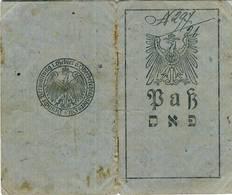 LITHUANIA JUDAICA  Wilkomierz Passport Ukmerge Pasas 1917 - Historische Documenten