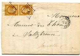 MEURTHE ET MOSELLE De SARREBOURG LAC Du 16:12:1860 Avec N°13 En Paire Oblitérés PC 2810 - 1849-1876: Classic Period