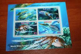 WWF  Nevis  Rare Mini-block  Marine Life - Marine Life