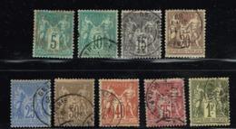 C6-lot  Sage Type I.  Timbres Choisis En Bon état. Cote Maury 300 Euros - 1876-1878 Sage (Type I)