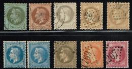 C6-série Complète Lauré .  Timbres Sans Défaut. Cote Maury 233 Euros - 1863-1870 Napoléon III Lauré
