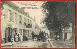 CPA 37-LE GRAND PRESSIGNY-  Hotel De La Promenade GALPY-BARRAULT-Omnibus à Tous Les Trains-Coiffeur-Scans Recto Verso - Le Grand-Pressigny