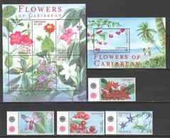 E625 GRENADA FLORA NATURE FLOWERS OF CARIBBEAN !!! KB+BL+SET MNH - Flora