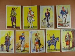 9 Chomos (5cm X 8 Cm)Chocolat Aiglon Costumes Militaires Historiques - Aiglon