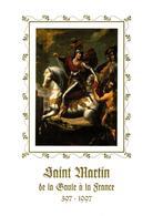 YT N° 3082 - Saint MARTIN -  Livret De Luxe- Encart Sur Soie- Tableau - Enluminure - ++++ - Christendom
