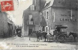 LA SELLE- CRAONNAISE - 1911 - CARTE EN L ETAT -  CARREFOUR DE LA VIEILLE- RUE - ET DE LA RUE DE ST- AIGNAN- SUR- ROE - Craon