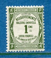 France - Taxe - YT N° 43 - Neuf Sans Charnière - 1908 à 1925 - Postage Due