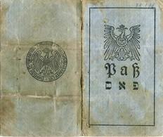 LITHUANIA JUDAICA  Wilkomierz Passport Ukmerge Pasas 1918 - Historische Documenten