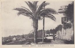 GENOVA NERVI - SULLA STRADA DI S. ILARIO - VIAGGIATA 1929 - Genova (Genoa)