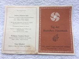 Zettel Einladung Tag Der Deutschen Hausmusik N.S.G. Kraft Durch Freude - Documenti