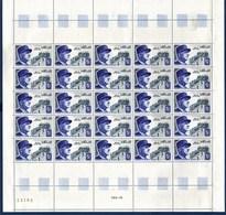 = Maréchal De Lattre De Tassigny, Feuille Complète Neuve N°1639 X25 à 40c + 40c - Full Sheets