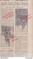 1931  CYCLISME - PARIS = BREST ET RETOUR - AUSTRALIEN HUBERT OPPERMAN - 5ème COURSE - Journaux - Quotidiens