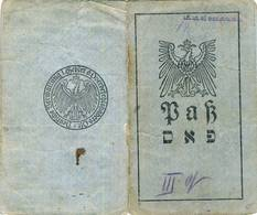 LITHUANIA JUDAICA  Poniewiez Passport Panevezys Pasas 1917 - Historische Documenten