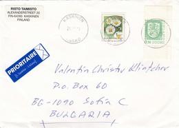 Finland-089/1999: 1 Klass+0,50 FM - Flower(Chrysanthemium Leucanthemum), Heraldic Lion (from Booklet) - Finnland