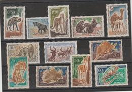 MAURITANIE N° 165 à 176 ** MNH FAUNE ANIMAUX - Mauretanien (1960-...)