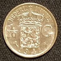INDONESIE ( Nederlands Indië ) - 1/10 GULDEN 1941 - Wilhelmina - Argent - Silver - KM 318 - Indes Néerlandaises