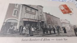 Cpa Petite Commune St Rambert D Albon  Grand Rue Animées - France