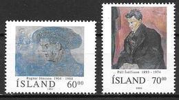 Islande 1991 N° 704/705 Neufs Islandais Célèbres - Ungebraucht