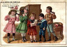 CHROMO GRAND FORMAT CHOCOLAT THEBAULT A LA MERE DE FAMILLE LE TELEPHONE - Chocolat
