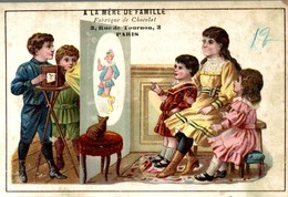 CHROMO GRAND FORMAT CHOCOLAT THEBAULT A LA MERE DE FAMILLE PROJECTION DE CINEMA - Schokolade