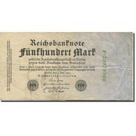 Billet, Allemagne, 500 Mark, 1922, 1922-07-07, KM:74c, TB+ - [ 3] 1918-1933 : Repubblica  Di Weimar