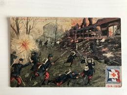 Ak Avec Timbre Secours Aux Blesses Militaires / Pres D Arras Bataille - War 1914-18