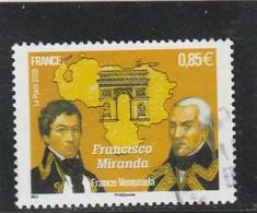FRANCE 2009 GENERAL FRANSISCO MIRANDA OBLITERE YT 4408 - - Used Stamps