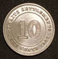 MALAISIE - 10 CENTS 1926 - George V - Argent - Silver - KM 29b - Bhoutan