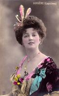 ARLETTE DORGÈRE ( CAPUCINES ) - CARTE VRAIE PHOTO COLORISÉE / REAL PHOTO POSTCARD - ANNÉE / YEAR ~ 1905 - '907 (ae196) - Artistes