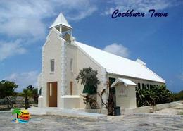 Turks And Caicos Grand Turk Cockburn Town Holy Cross Church New Postcard - Turques-et-Caïques (Iles)