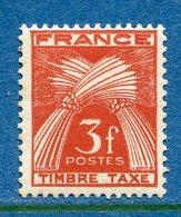 France - Taxe - YT N° 83 - Neuf Sans Charnière - 1946 à 1955 - Segnatasse