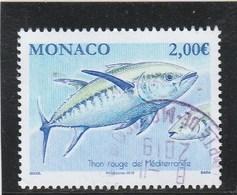 MONACO 2019 THON ROUGE DE MEDITERRANEE OBLITERE  YT 3082 - Monaco
