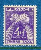 France - Taxe - YT N° 84 - Neuf Sans Charnière - 1946 à 1955 - Segnatasse