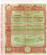 Titre Ancien - Societea Creditului Funciar Urban Din Bucaresti - Sté Du Crédit Foncier Urbain De Bucarest - 1930 - Déco - Actions & Titres